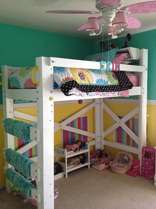 Op Loft Beds Ebony Wood