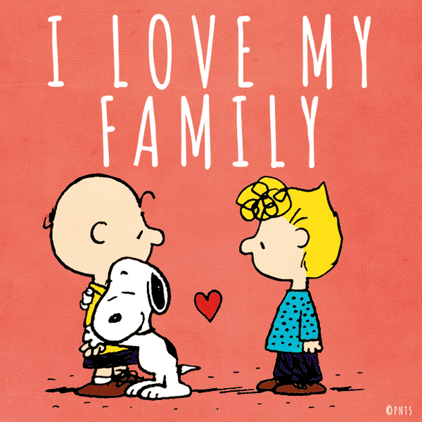 "PEANUTS On Twitter: ""I Love My Family. Http://t.co/K9Nkl5NO91"""