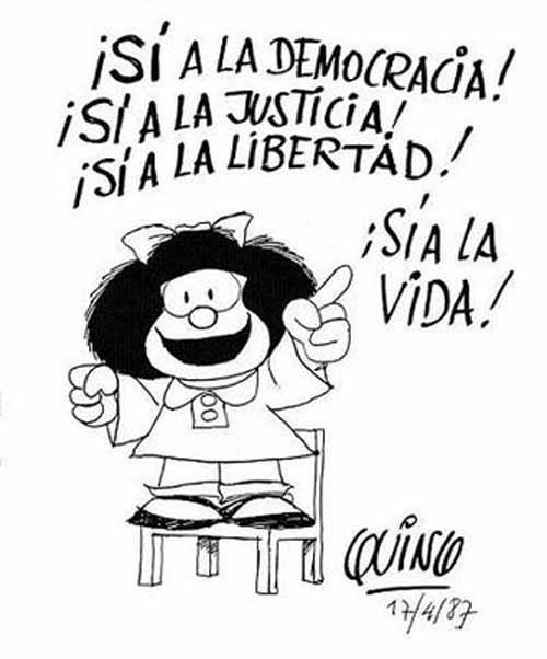 Image result for Mafalda si a l a vida