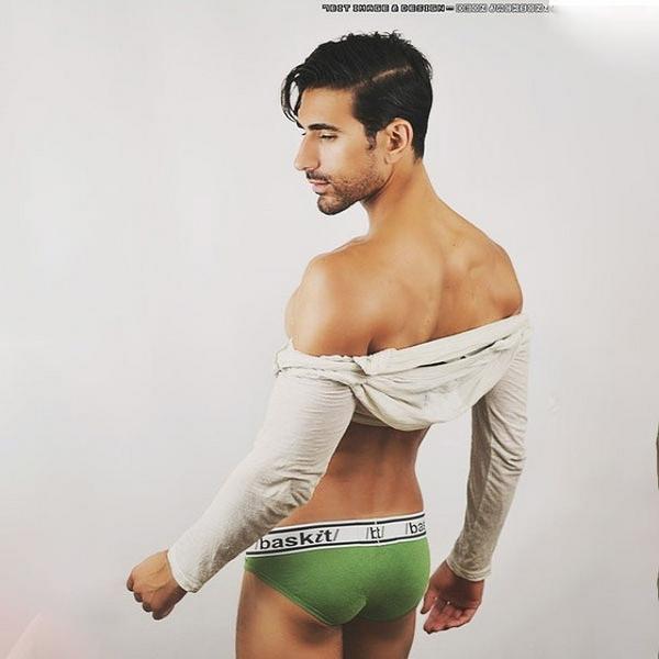 Hairy male underwear bulges