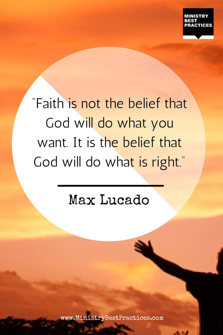 Twitter / BillReichart: Max Lucado #quote on #faith ...