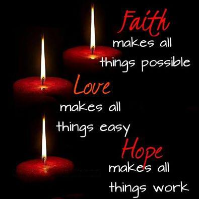 Faith makes all things possible. Love makes all things easy. Hope makes all things work. #Quote http://t.co/QAyufKvZIl