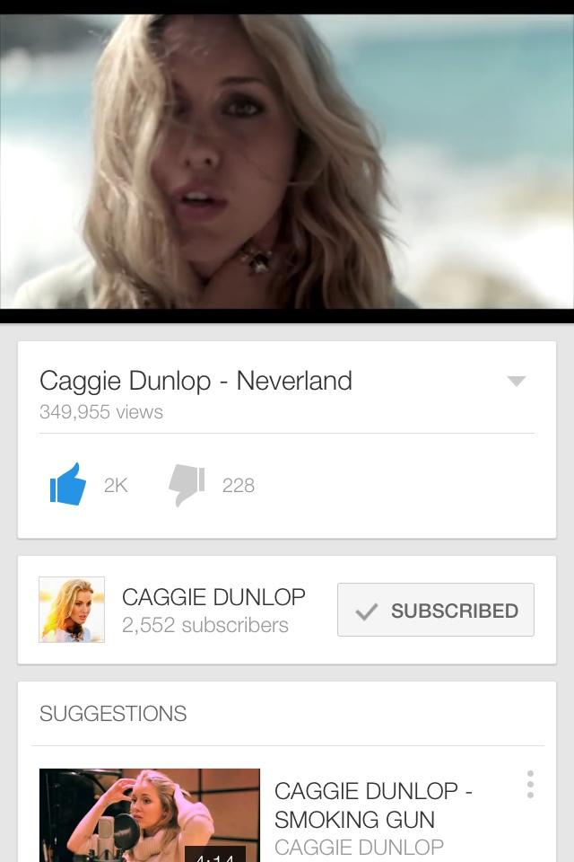 RT @IyaItsEll: @Caggie_Dunlop  Mad how obsessed I am with this💥🌠 It's a beautiful song👭❤️ Subscribed+Liked💕🎶 Needs noticing☺️🙋🎈🎤 http://t.c…