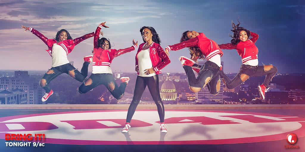 These majorettes are about to dance their SASSES off!! #BringIt returns TONIGHT at 9/8c on @lifetimetv! #ad http://t.co/i9X3NefdRG
