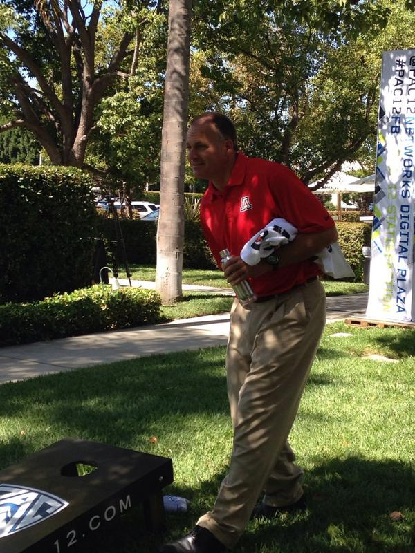 """It's hard to fake this kind of skill."" - @CoachRodAZ playing cornhole http://t.co/tNJR5V6PZC"