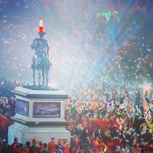 The Duke! Had to be done people, yes? #Glasgow2014 #openingceremony http://t.co/IKCh2pzMOg