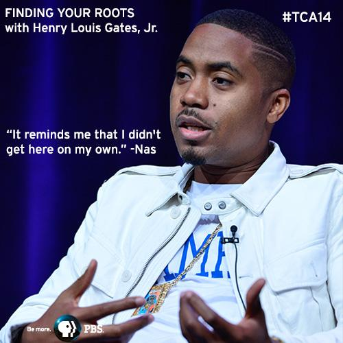 .@Nas talks about the importance of Finding Your Roots @ TV Critics Assn mtg. today. Returns to PBS in Sept #TCA14 http://t.co/wJPEz4rKFl