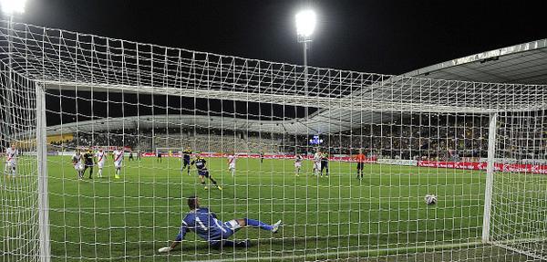 Ibraimi converts his penalty; photo: rtvslo.si