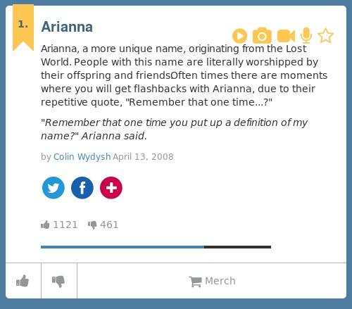 arianna name meaning urban dictionary