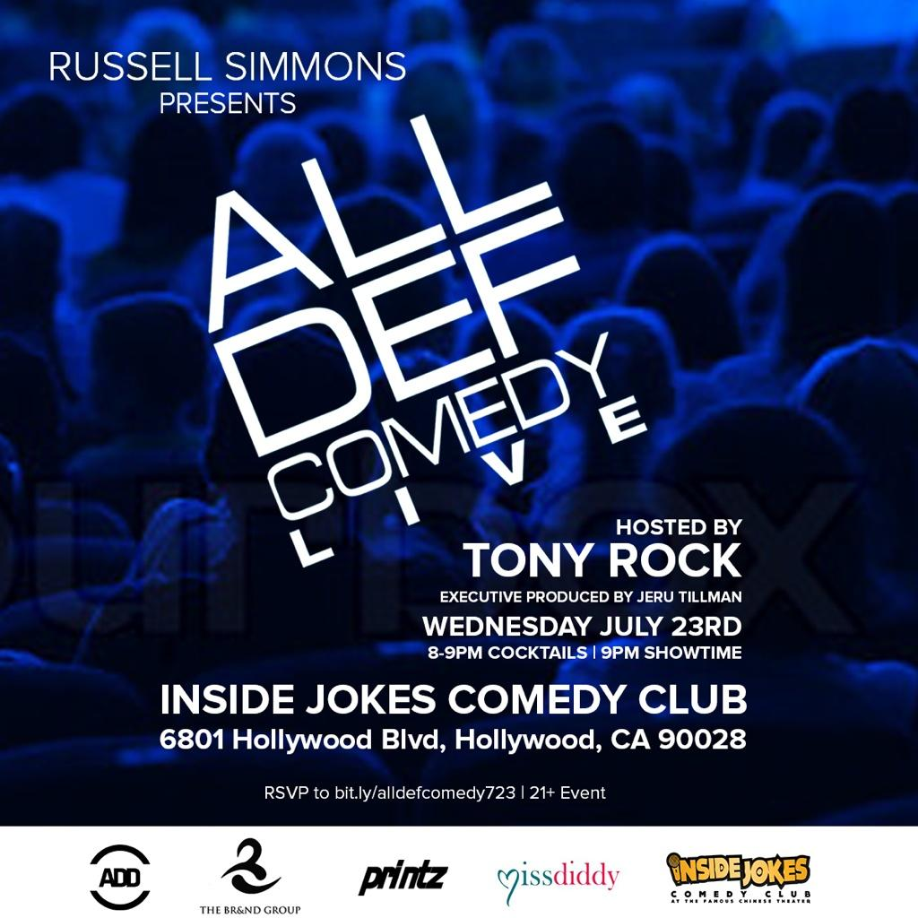 RT @AllDefDigital: TONIGHT come laugh it up with the HOTTEST comics and the LIVEST audience at #AllDefComedyLIVE! http://t.co/pwhqWQIlkX