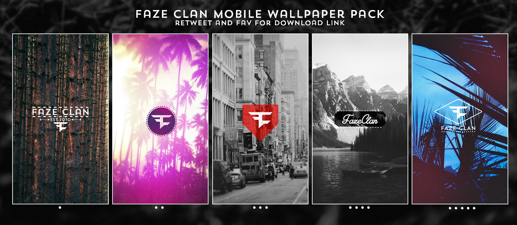 Faze Nikan On Twitter Faze Clan Mobile Wallpaper Pack Rt And