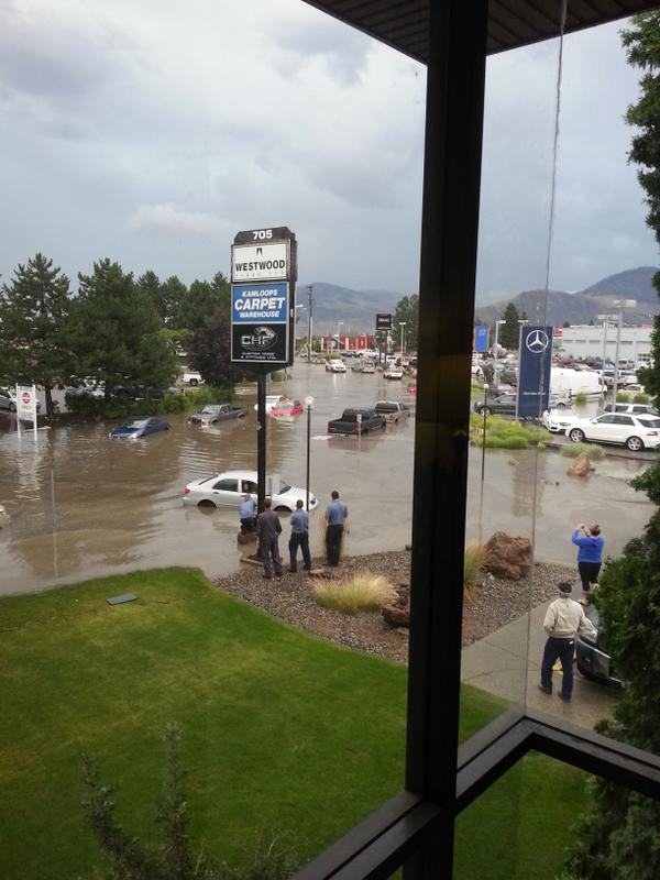 City under siege: Flash flooding turns roads into rivers in #Kamloops. http://t.co/UUeyteny0e http://t.co/XNzzAumcxT