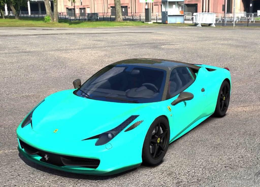 really nice cars on twitter turquoise ferrari 458. Black Bedroom Furniture Sets. Home Design Ideas