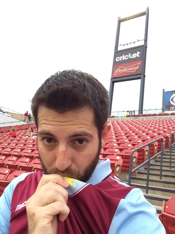 After driving 1050 miles yesterday, I'm here support my boys @AVFCOfficial. Go Villa!!!! #DFCvsAVL http://t.co/x4XkHMj8u9