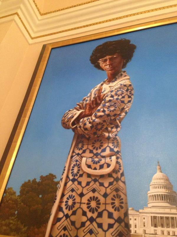 Vanessa K De Luca On Twitter This Portrait Of Shirley Chisholm Hanging In The Capitol Is Everything Http T Co Ueizzirsne