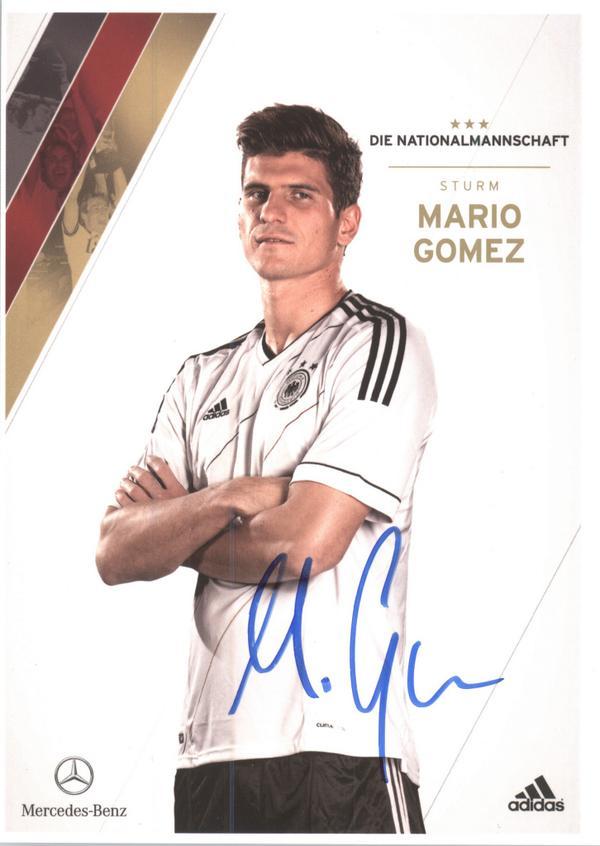 Mario Gomez Autogrammkarte VfB Stuttgart 2008-09 Original Signiert