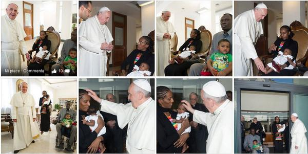 Meriam Ibrahim, Christian Woman who was sentenced to death in #Sudan for been Christian met #PopeFrancis today. http://t.co/TmhqbeuWMg