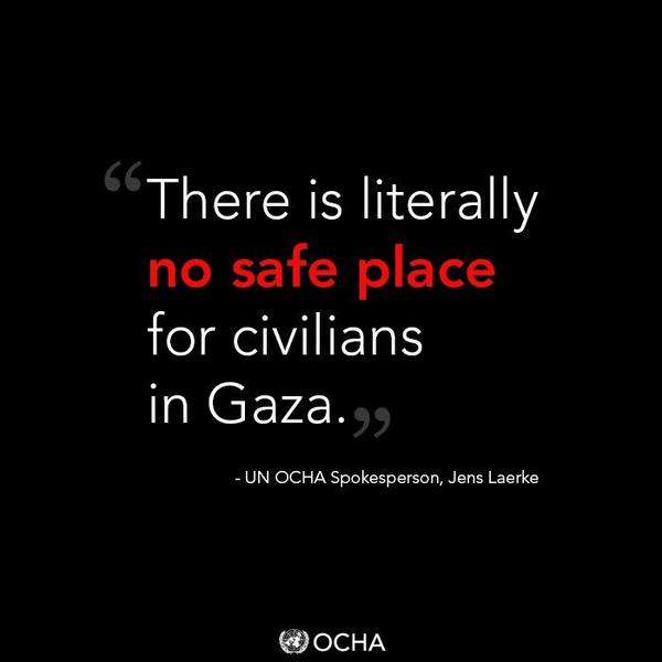The number of displaced Palestinians in #Gaza is now more than double the peak number from the 2009/9 conflict. http://t.co/9rOP3vF4Pb