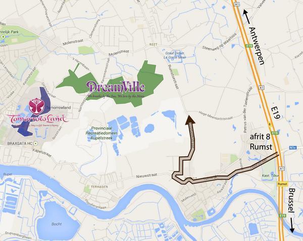 Op weg naar #Dreamville? Kies E19! // Enroute Dreamville: choose E19 & avoid A12. #tml14 http://t.co/BRxtPQdweD