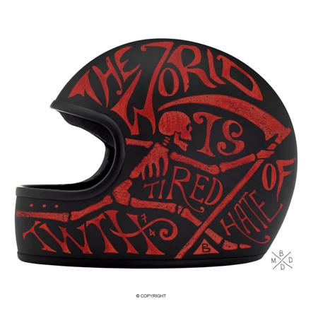 Illustrated biker helmets bring creativity to safety: http://t.co/vUWu94Hirt [via @CreativeBloq] http://t.co/vkZYPmt6yj