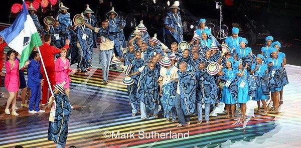 Last night #TeamLesotho arrived in traditional blankets & hats at the #openingceremony for @Glasgow2014 http://t.co/4enPTJLxfe
