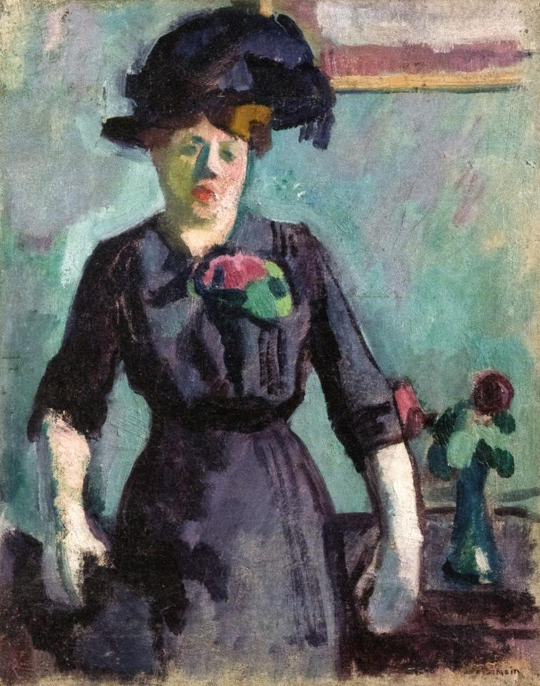 Young Woman in a Large Hat