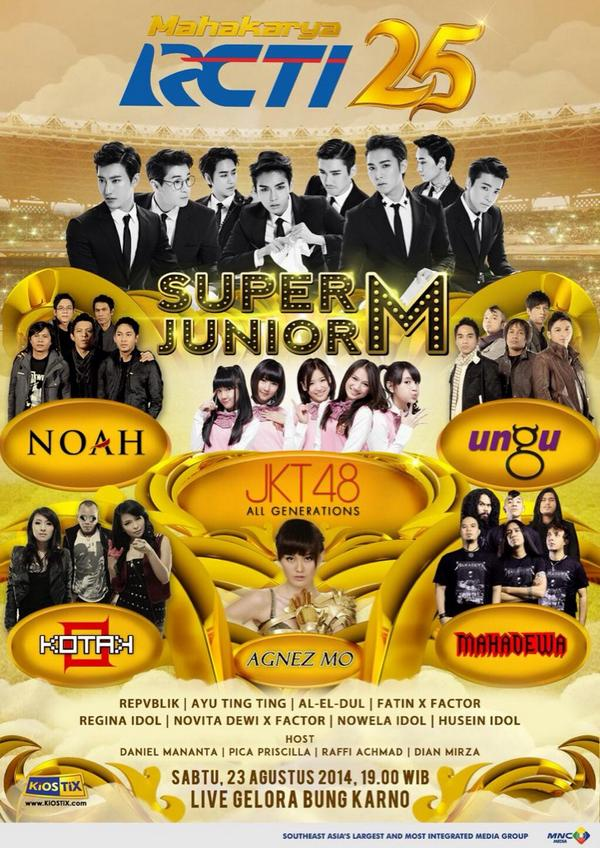 (Official poster) Artist list for RCTI 25th Anniversary. http://t.co/9yoLCU1HgK