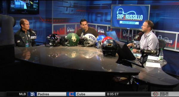 .@CoachArtBriles on the air now with @SVPandRussillo. #ESPNBIG12 http://t.co/YpR7xaqpSg