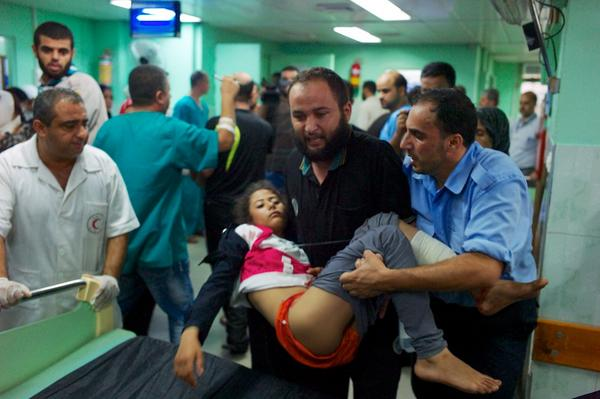 I just can't get over what I have just witnessed at the Kamal Odwan hospital in #Gaza so many injured children http://t.co/HJCcVRix0z