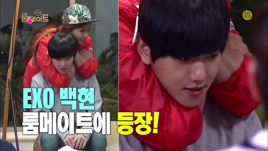 140727 Roommate Episode 13 – Nana, Park Bom and EXO Chanyeol & Baekhyun (RAW)