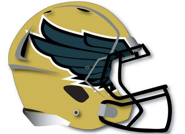 Schoolpride decals on twitter awesome football helmet decal wings for designed the golden eagles football http t co dw13gdgmdm