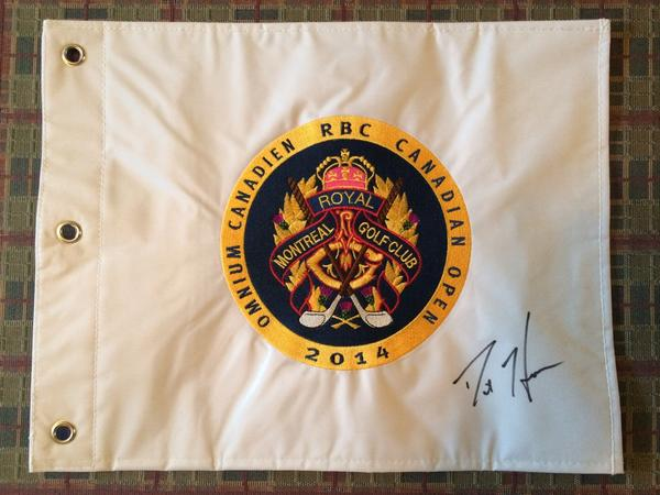 Kicking off the RBC Cdn Open...another giveaway!! Please RT for a chance to win this signed flag! #RBCHearn http://t.co/SB5krdxVVF