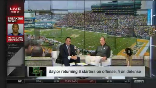 That's a wrap for @CoachArtBriles on @SportsCenter, but his day is just getting started. Stay tuned for updates. http://t.co/37bl0Ohogh
