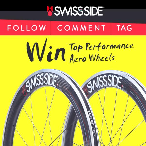 WIN AERO WHEELS! To Enter: Follow @swissside, RETWEET this post WIN HADRON! #cycling http://t.co/kKjCFHv6ZC