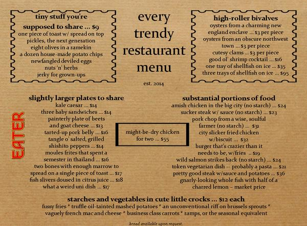 Here's what every trendy restaurant menu looks like: http://t.co/WKJQd4ooC4 http://t.co/c0JrySQeXJ