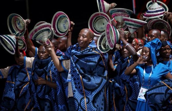 Great to the the #Lesotho #Commonwealth team in their trad hats at the Games Opening ceremony last night @Sentebale http://t.co/ayiyMuEcCL
