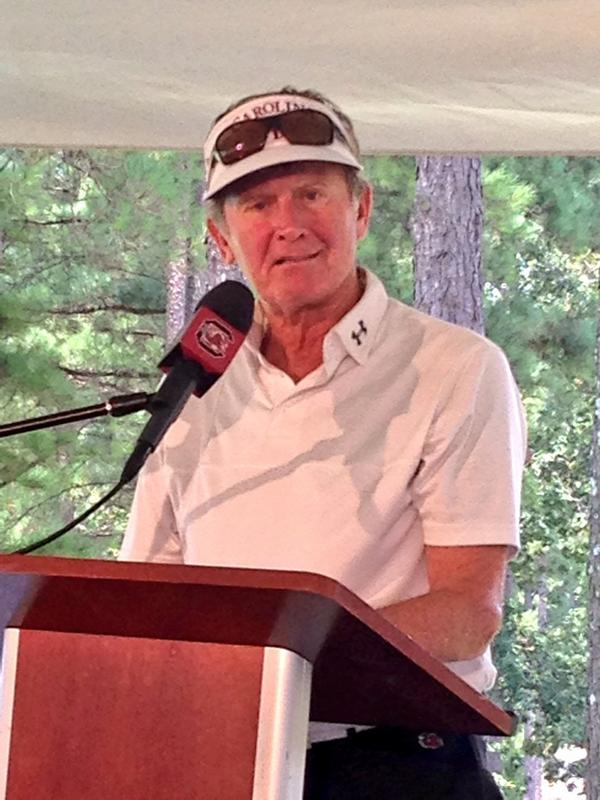 """My favorite line today from Steve Spurrier: his reference to Jay-Z as """"Beyoncé's husband."""" #talkingseason #classic http://t.co/Sv1t07lsvr"""