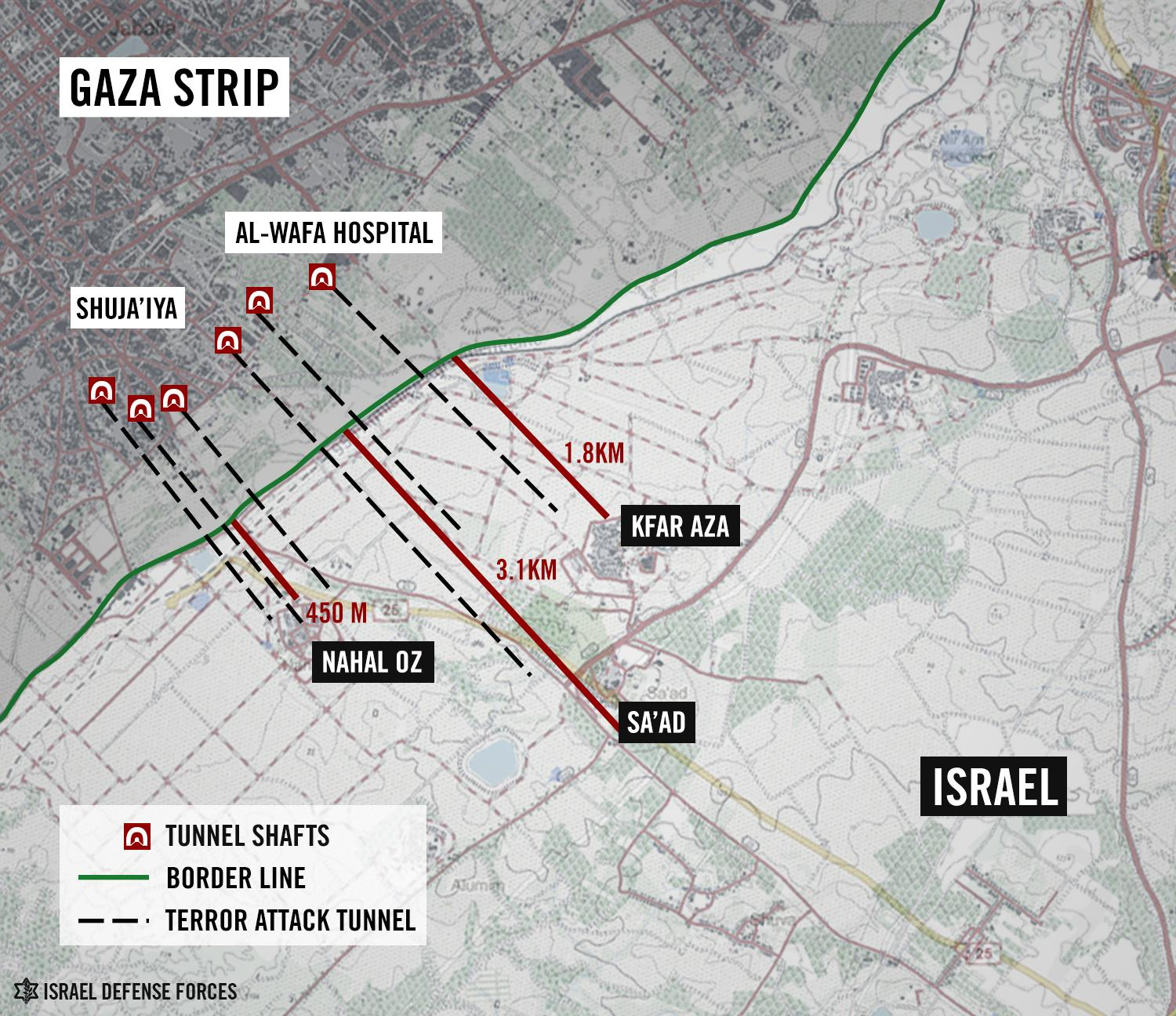 Twitter / IDFSpokesperson: This map shows why we continue ...