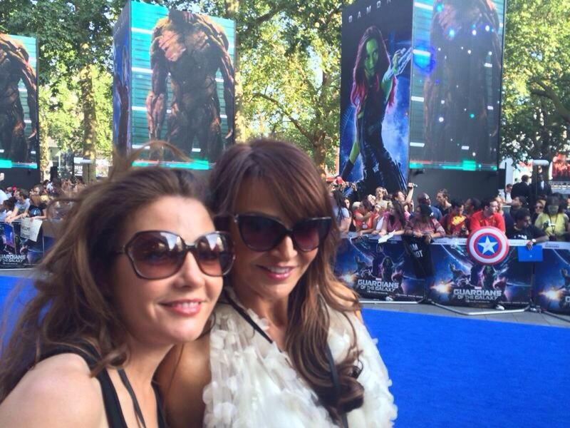The amazing Guardians of the Galaxy @HelenHandMakeUp and me about to take to the blue carpet http://t.co/FOr6EIjhiM