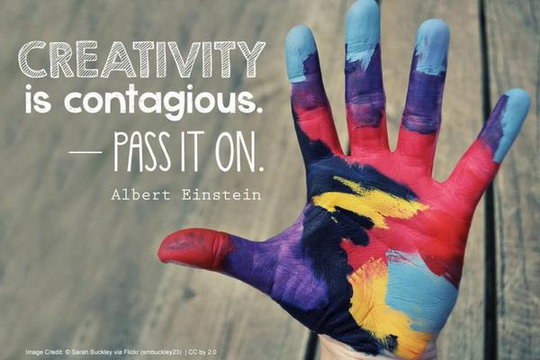 Creativity…it's always contagious so pass it on #quoteoftheday #Einstein #arttherapy #creativity http://t.co/xC0l5cyFCX