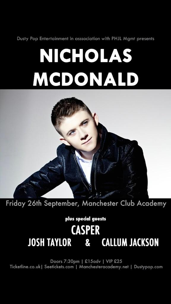 I will be headlining my own show on Friday 26th Sept at Manchester Academy.Tickets on sale 9am tomorrow morning RTRT🙌 http://t.co/HKSO9G8j7x
