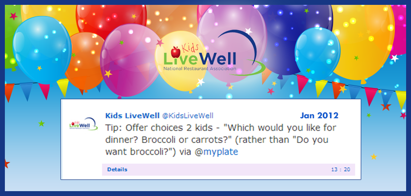 Twitter / KidsLiveWell: Q3: Eating out is a fun way ...