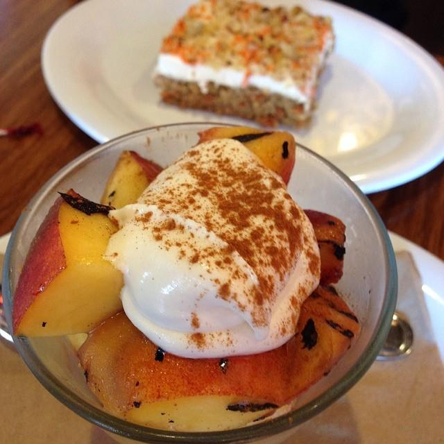 Twitter / ThriftyJinxy: Peach Parfait and Carrot Cake ...