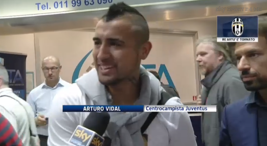 Manchester United target Arturo Vidal: I dont know if Ill stay at Juve, but Im happy here [Sky Italia]