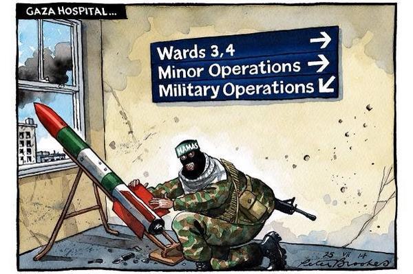 Risultati immagini per human shield hamas cartoon