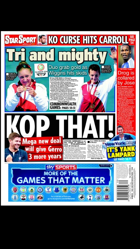 Steven Gerrard set for new 3 year Liverpool deal worth £150,000 per week [Star]