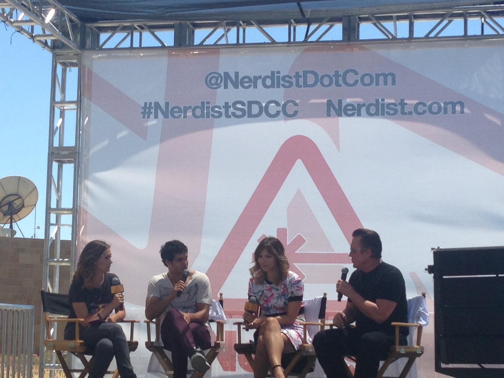 The cast of @Scorpion_CBS including @katharinemcphee & @robertpatrickT2 chat live with @NerdistDotCom at #SDCC2014 http://t.co/kif24YnlWc