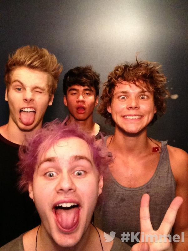 Backstage at #Kimmel. Tune in tonight 11:35|10:35c on ABC with @5SOS #5SOSKimmel http://t.co/g3VRbf67wT