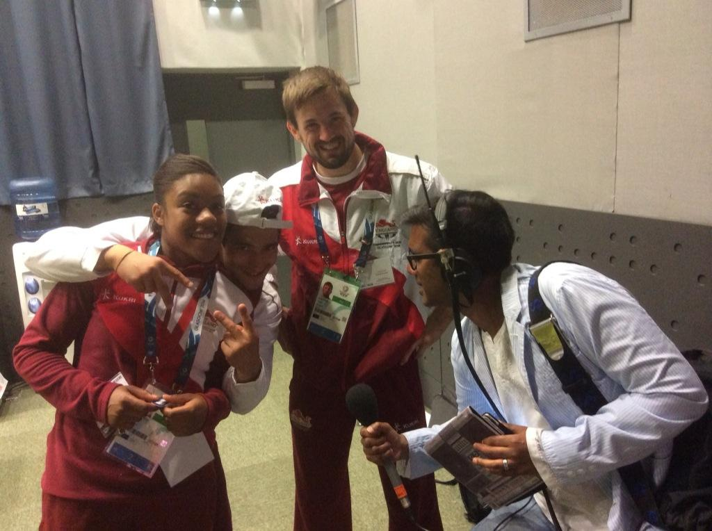 RT @timlevell: 3 gold-winning judoka - Ashley McKenzie, Colin Oates & Nekoda Davis chatting with @therealnihal on @bbc5live http://t.co/vAo…