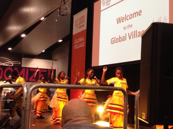Loving the global village closing ceremony - what an incredible space #AIDS2014 nb http://t.co/AZYT7gUkwd